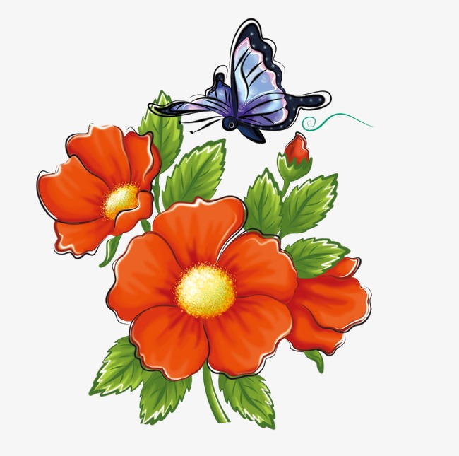 Flowers And Butterflies Flowers Butterfly Flowers Clipart Png