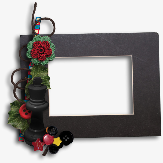 Flowers Decorative Frame, Frame Clipart, Handmade Flowers ...