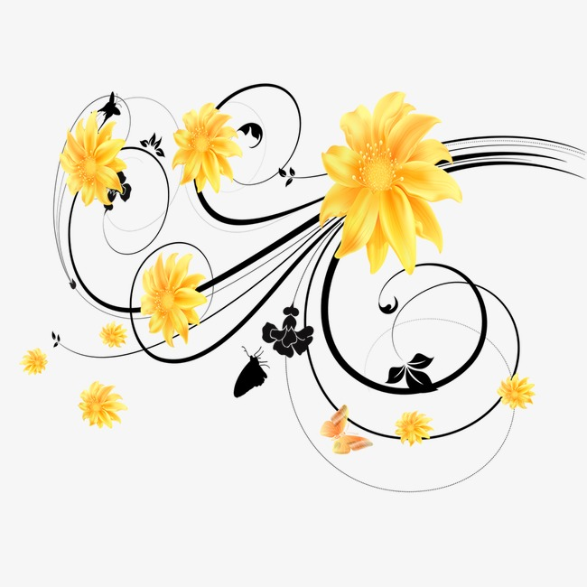 Flowers Yellow Flower Vine Image And Clipart For Free Download