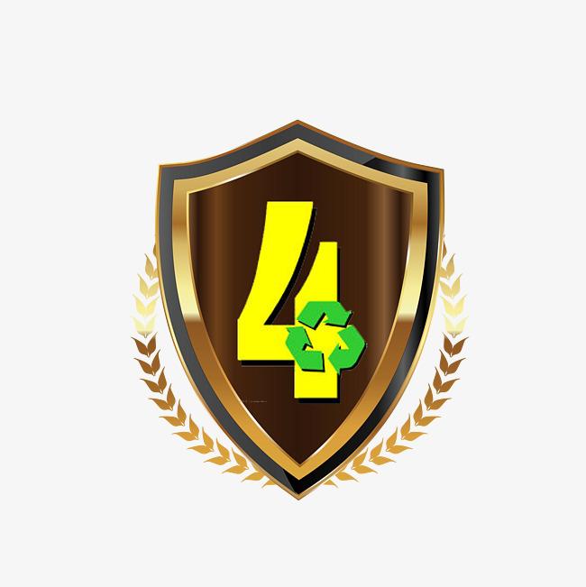 Cuatro Premio Trofeo De Oro Cuatro Cuarto Premio Oro Cuatro PNG y ...