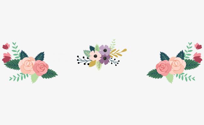 Bunte Blumen Schmucken Matten Material Frei Handbemalte Vector Die