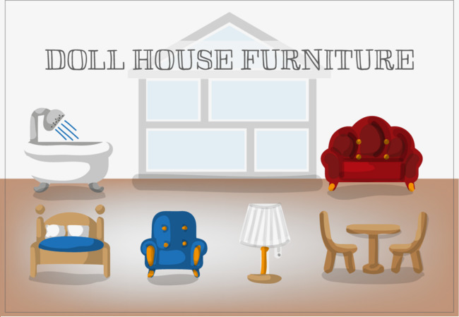 Free Dollhouse Furniture Vector Furniture Vector Vector Free Png