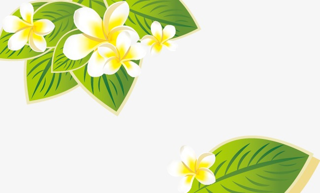 Fresh Spring Flowers Leaves Spring Vector Spring Fresh Png And
