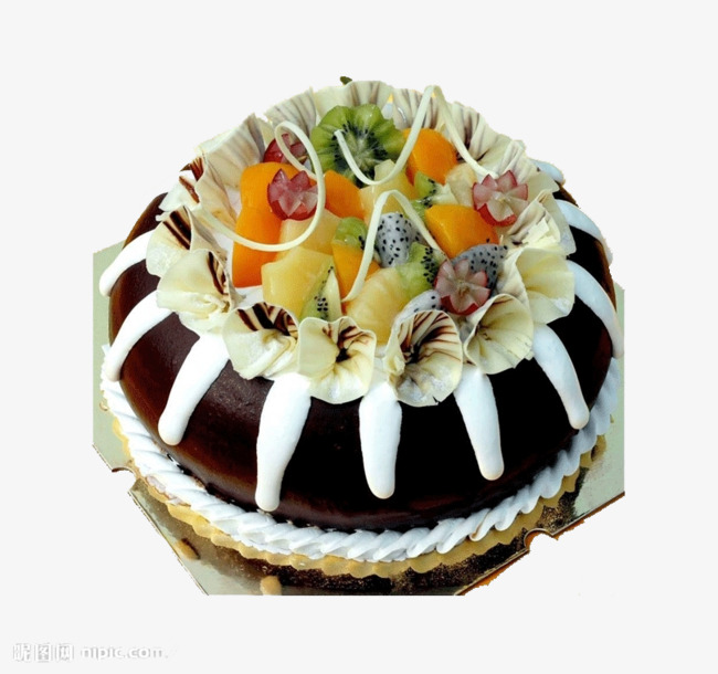 Fruit Birthday Cake Clipart PNG Image And