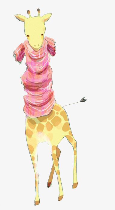 giraffe wearing a scarf  scarf  giraffe  illustration png