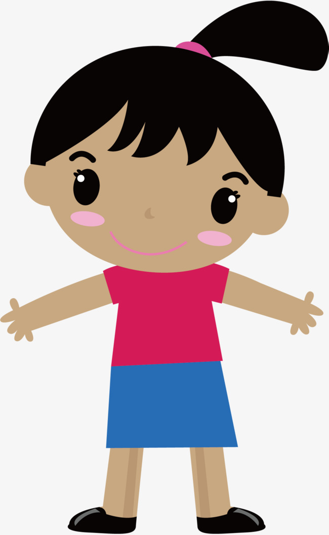 Girl Children Cartoon Poster Promotional
