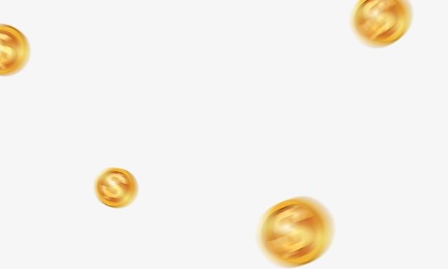Oro Material Flotante Oro Moneda Floating Creativos