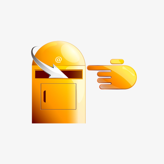 golden mailbox icon golden e mail icon png image and clipart for rh pngtree com
