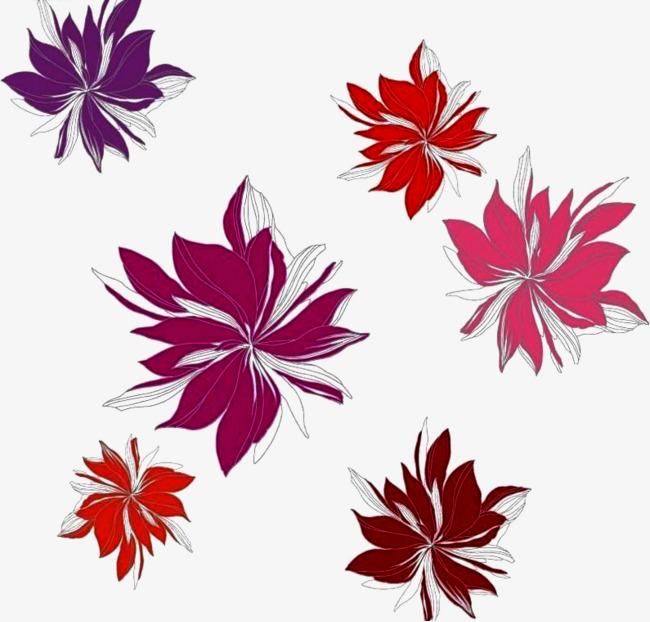 Magnifique Belle Fleur Rouge Violace Des Fleurs Arriere Plan Image