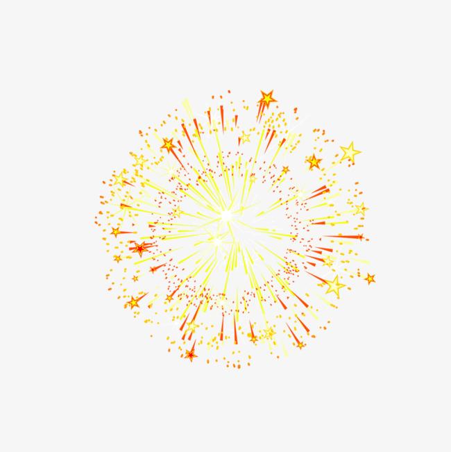 Gorgeous Fuegos Artificiales Amarillo Dorado Rojo Estrella De Cinco