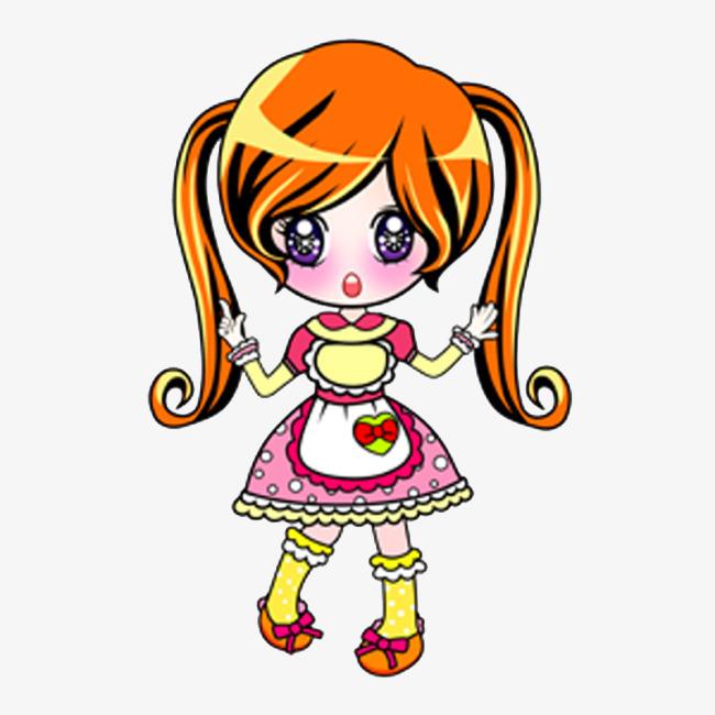 Anggun Postur Gambar Kartun Gadis Cantik Menimbulkan Kartun Comel