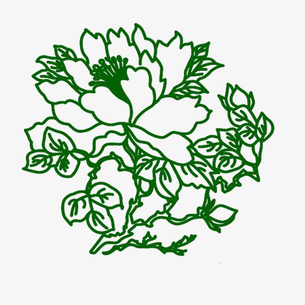 Flores Verdes Dibujo Dibujo De Linea Fotos Verde Flores Dibujo De