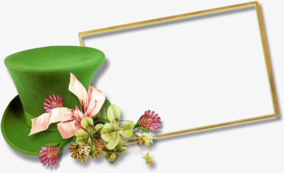 Green Hat Photo Frame, Frame Clipart, Hat Frames, Hat Border PNG ...