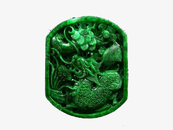 Green Jade Dragon Clipart Pendant Png Image And