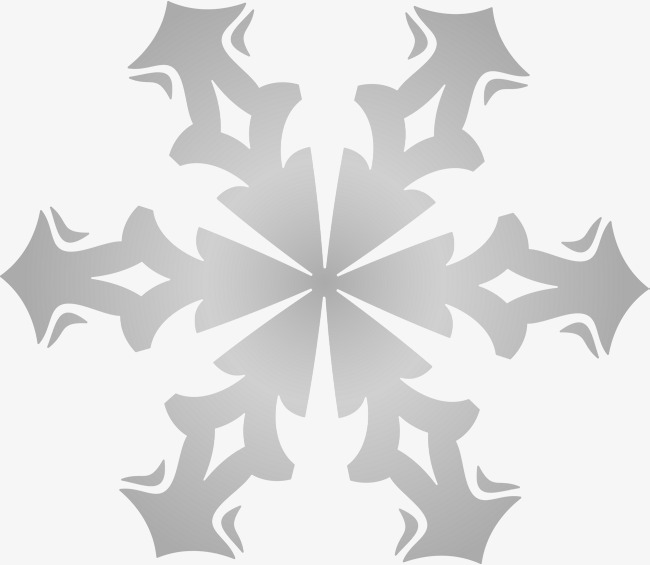Grey Simple Snowflake Snowflake Clipart Gray Simple Png Image And