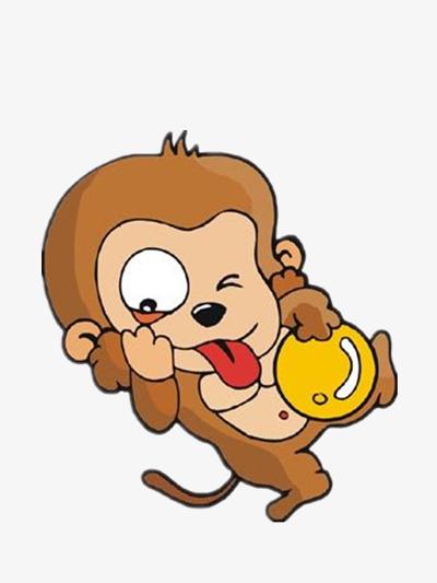 Meringis Monyet Kecil Coklat Nakal Kartun Imej Png Dan Clipart Untuk