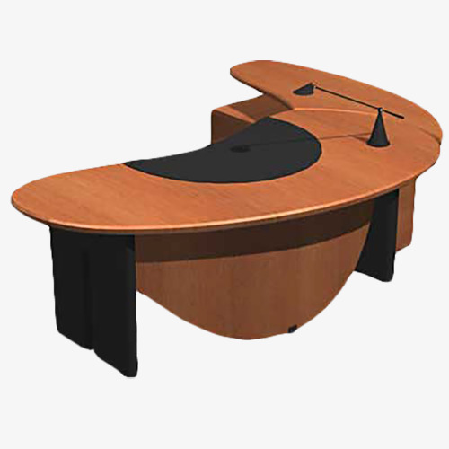 Half Round Boss Table Executive Desk Furniture Png Transpa Image And Clipart For Free