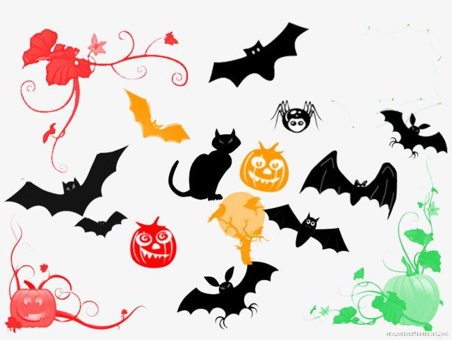 Halloween Bat Cartoon Bat Calabazas De Halloween Pintura En Blanco Y ...