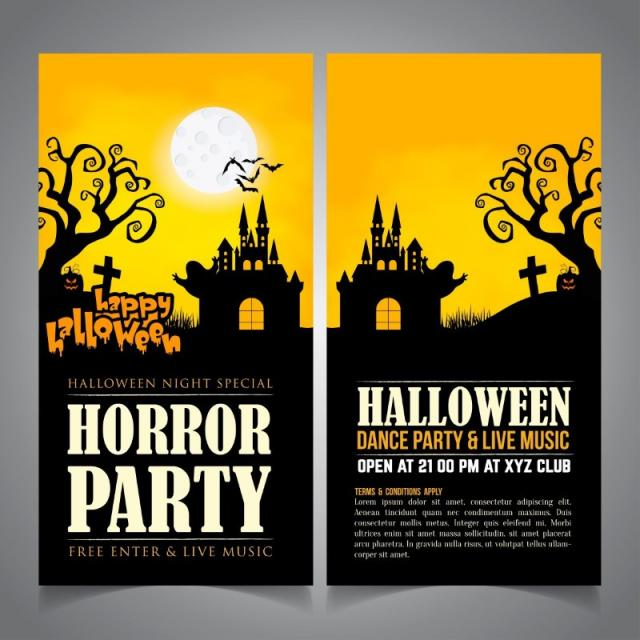halloween card template for free download on pngtree