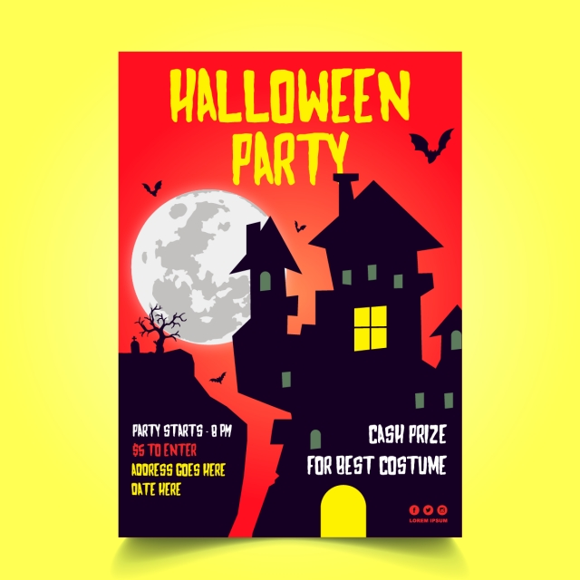 pngtreeにhalloween castle party posterテンプレートの無料ダウンロード