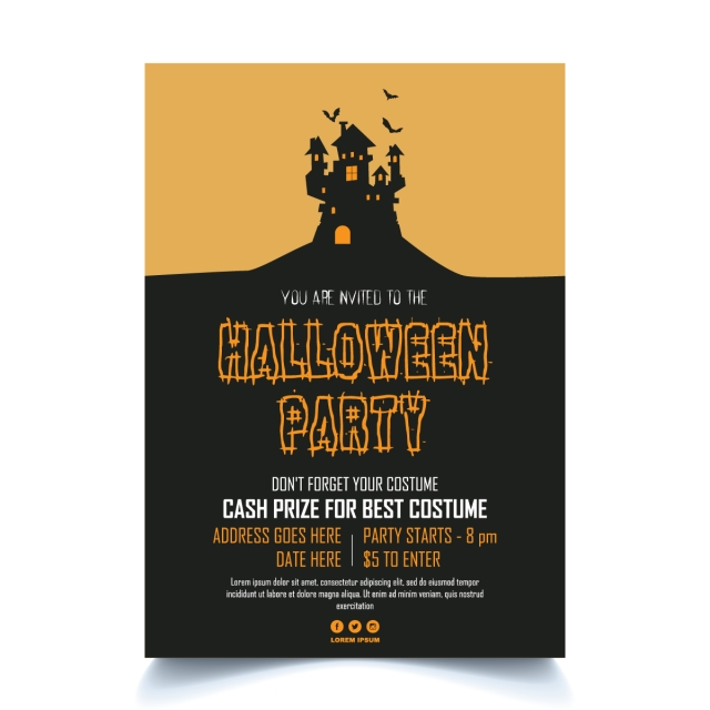 pngtreeにhalloween horror party posterテンプレートの無料ダウンロード