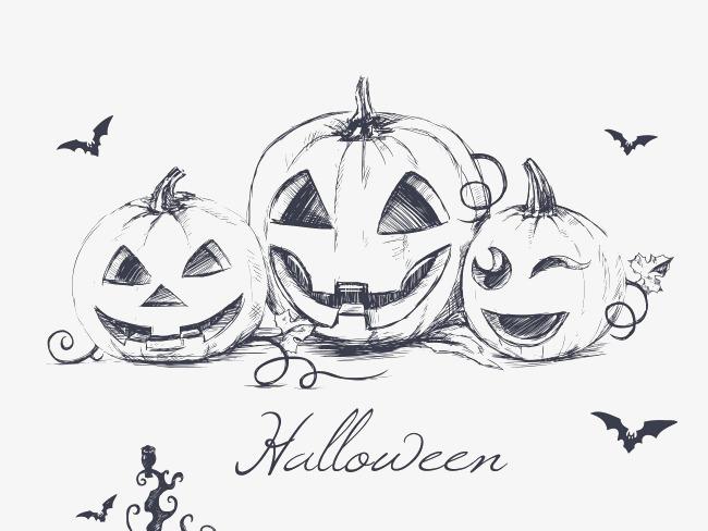 Halloween stick figure