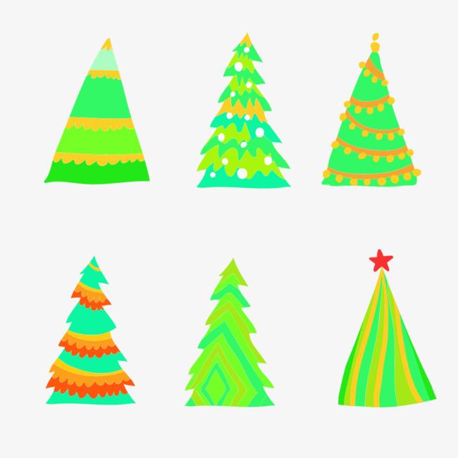 hand colored christmas tree tree clipart christmas tree all kinds png image and - Kinds Of Christmas Trees