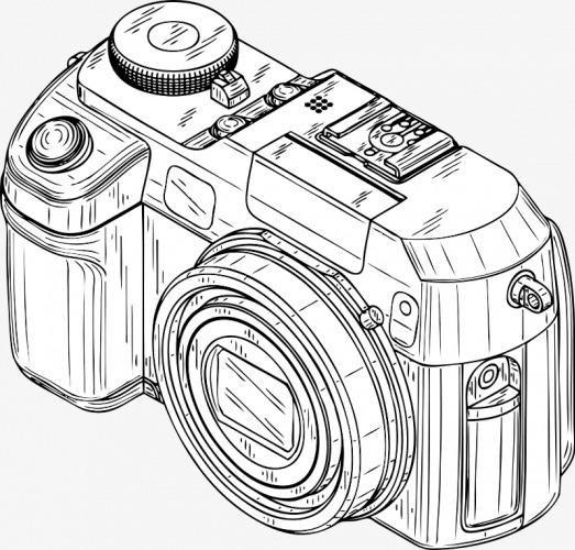Hand Drawn Camera Camera Clipart Camera Hand Painted The Camera
