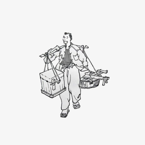 hand drawn men burden selling goods male the burden png image and
