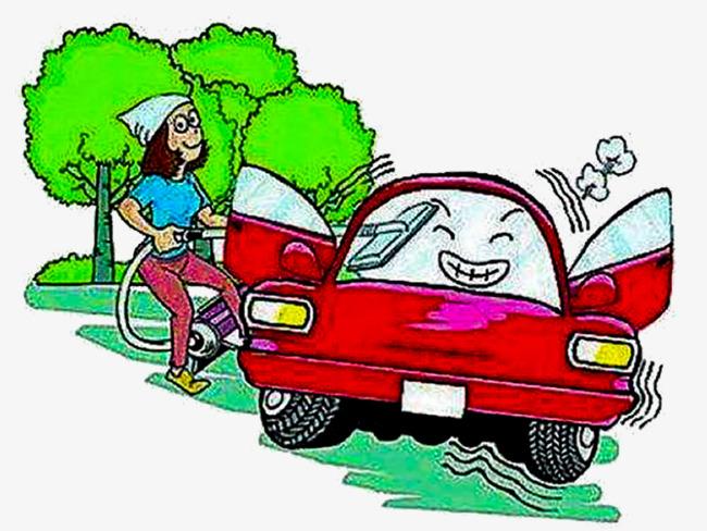 Pintado A Mano De Lavado De Autos Auto Repair Plant Dibujado A Mano