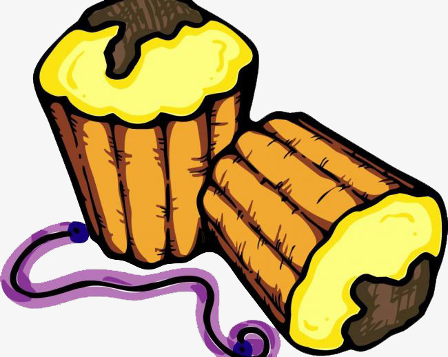 Comic Zeichnen Hand Essen Cartoon Lebensmittel Kuchen Png Bild Und