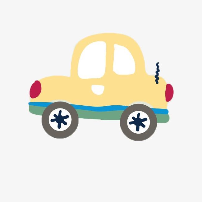 Pintado A Mano De Coches De Dibujos Animados Trolley Auto Compacto