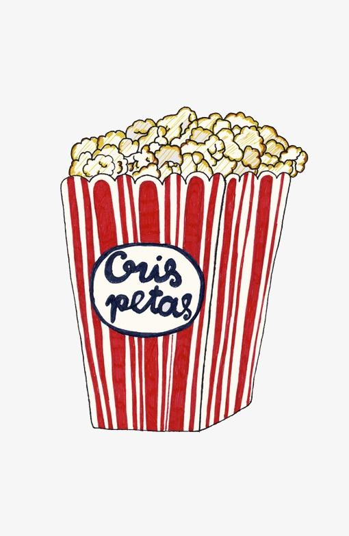 dessins anim u00e9s dessin u00e9s  u00e0 la main du pop corn peint  u00e0 la main dessin pop corn image png pour le