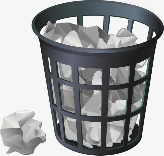 dessin de la poubelle gris poubelle boule de papier image. Black Bedroom Furniture Sets. Home Design Ideas