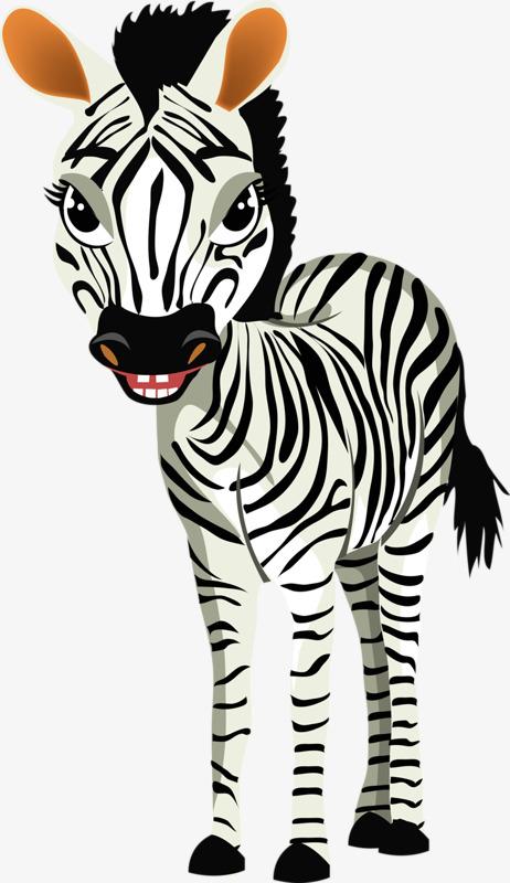 Le Dessin Anime Main Zebre Animal Zebre De Peints A La Main Noir Et