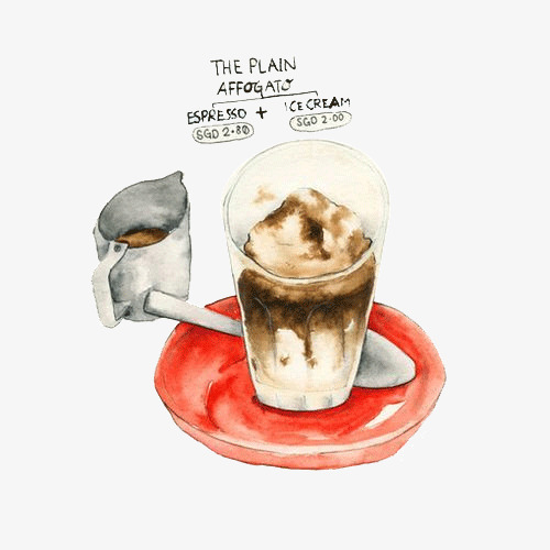 Handbemalte Kaffee Trinken Kaffee Handbemalte Becher Png Bild Und
