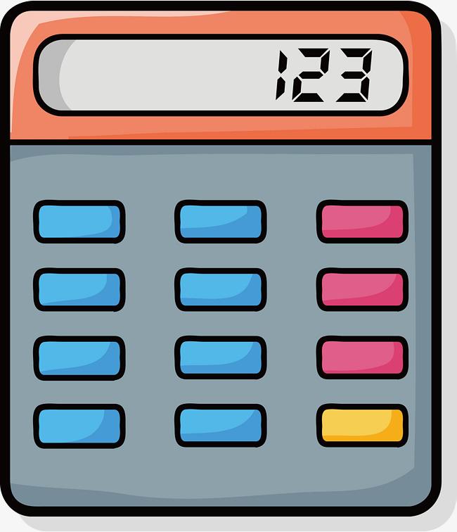 Hand Painted Color Calculator Vector Diagram Benefit Money Money