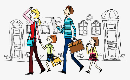 Image result for illustration family travel