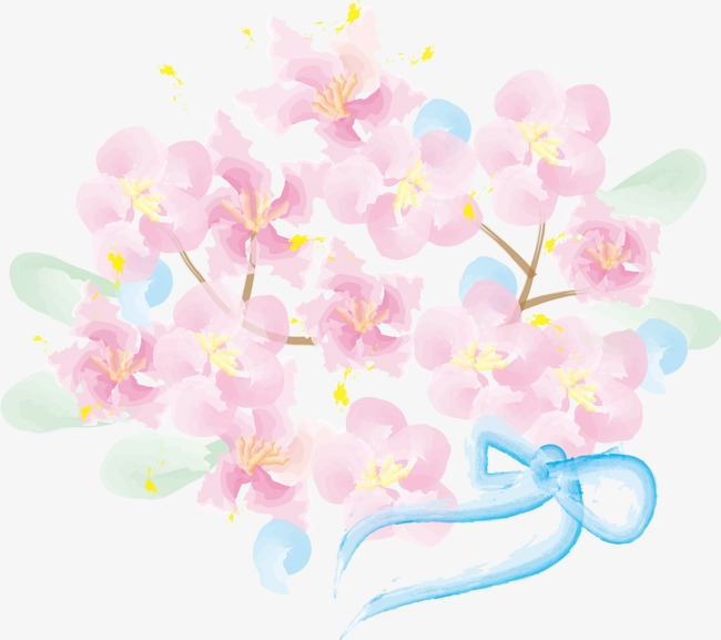Pintado A Mano De Flores De Color Rosa Pastel Pintado A Mano Tint
