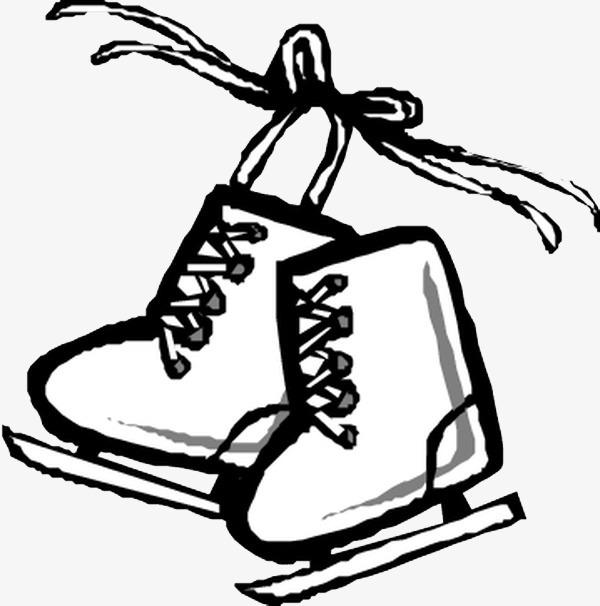 desenho de skate patins no inverno ski png imagem para