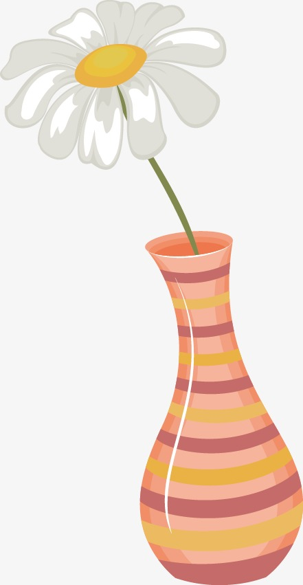 Hand Painted Vases Of Flowers Floral Elements Vase Shading Png