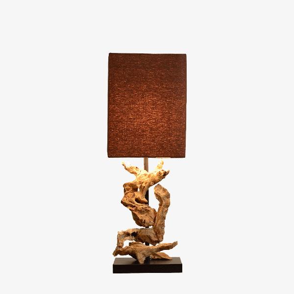 La Lampe De Table De Modele De Piece En Bois De Vieillissement De