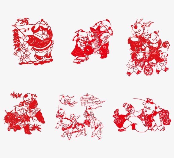 Handicrafts Vector Paper Cut Grilles Character Png And Vector For