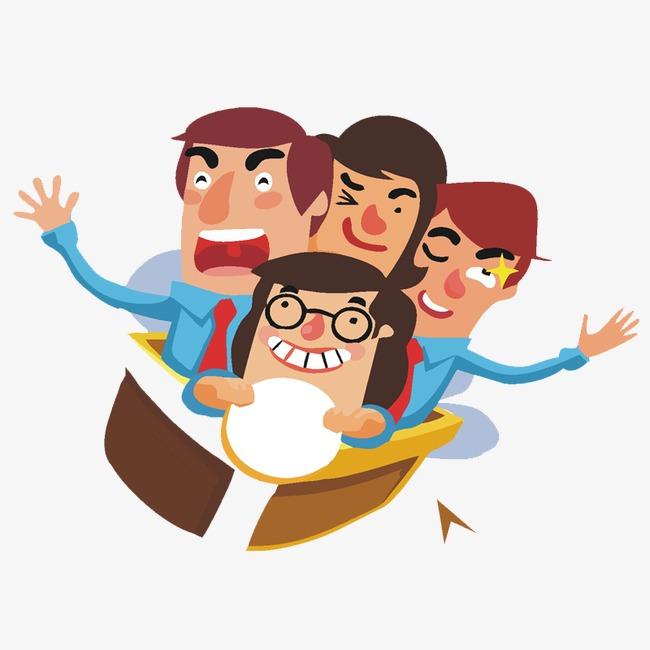quatre personnes dessin personnage plat image png pour le