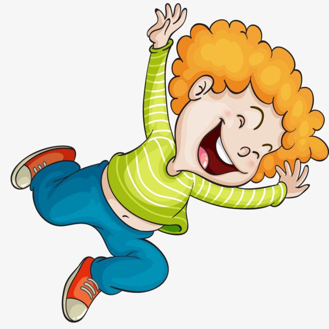 heureux de vert de personnages de dessins anim u00e9s heureux peint  u00e0 la main cartoon gar u00e7on image