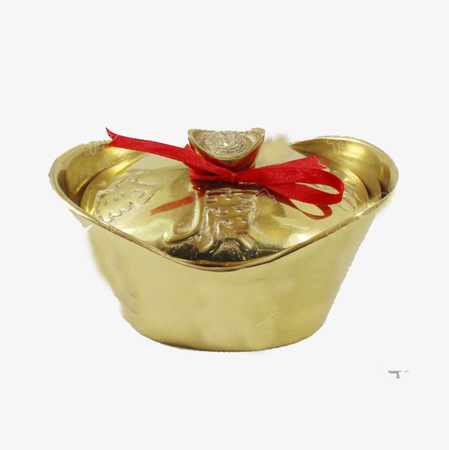 Have A Gold Ingot Buddha With Worship Gods Copper Handicrafts Png