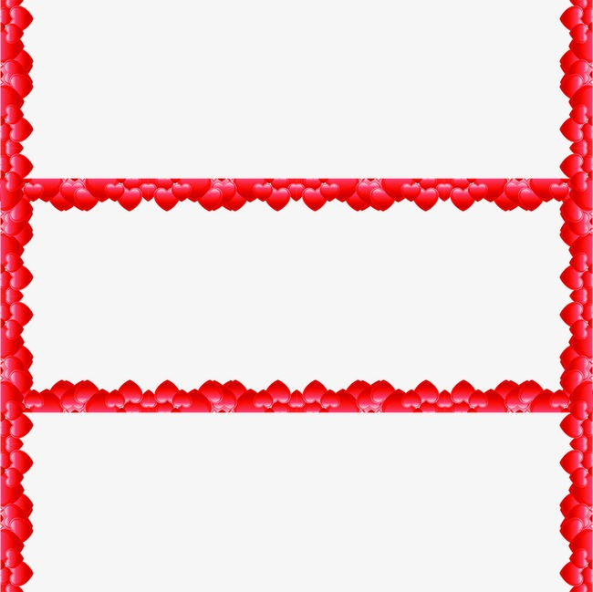 Hearts Border Valentine S Day Festival Lovers Png Image And