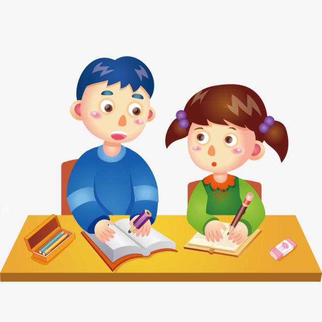 des enfants  u00e0 faire ses devoirs dessin personnage de