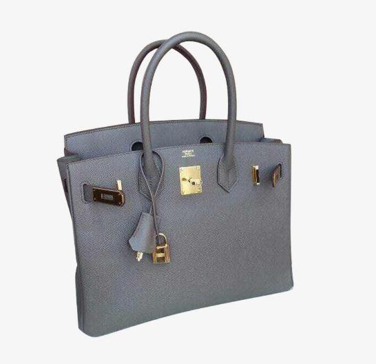 758d706f202 Hermes Hermes Birkin Bag 30cm Platinum Gold Buckle Classic Gray Leather  Handbag