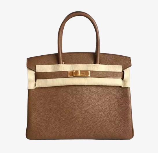 9c71a037d19 Hermes Birkin bag Hermes a Bolsa de couro Marrom com fivela dourada de 30  Grátis PNG e Clipart